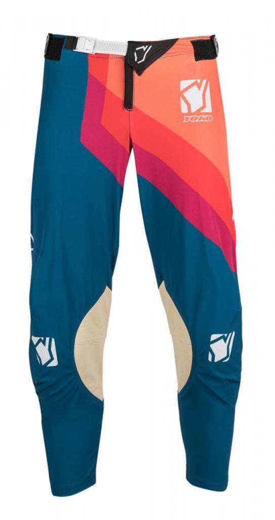 Motokrosové detské nohavice YOKO VIILEE modro / oranžový