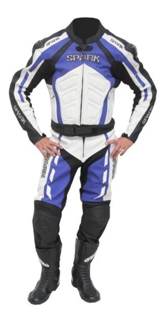 Pánske kožené moto nohavice Spark GP, modré