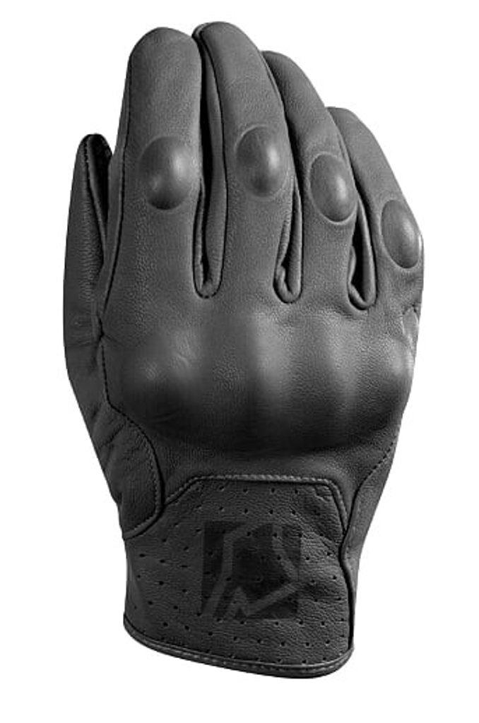 Krátke kožené rukavice YOKO STADI čierna