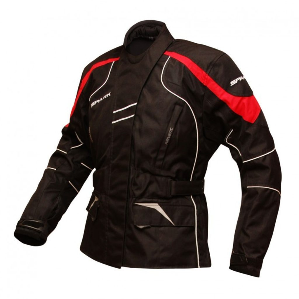 Dámska motocyklová bunda Spark Lady Berry, Red