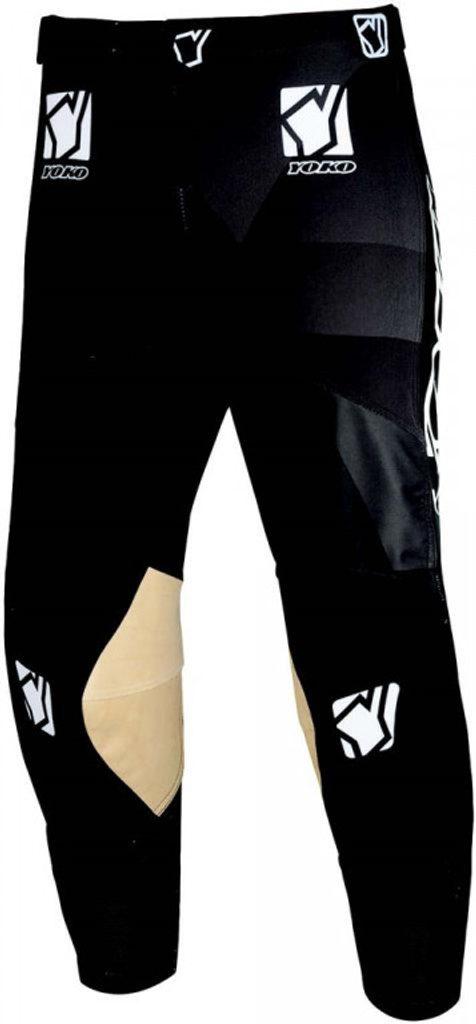 Motokrosové detské nohavice YOKO KISA čierna