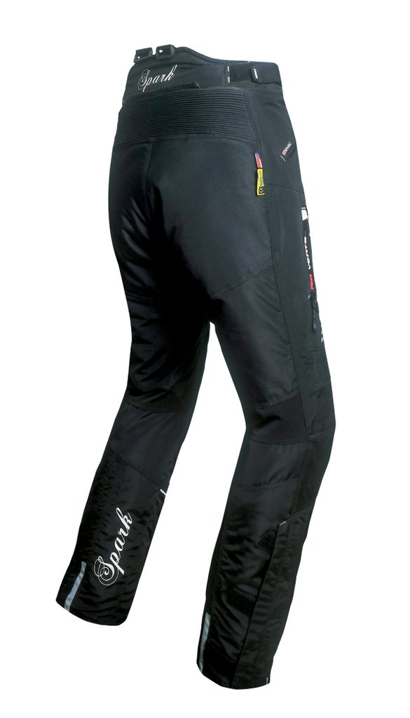 Dámske textilné moto nohavice Spark Nora, čierne