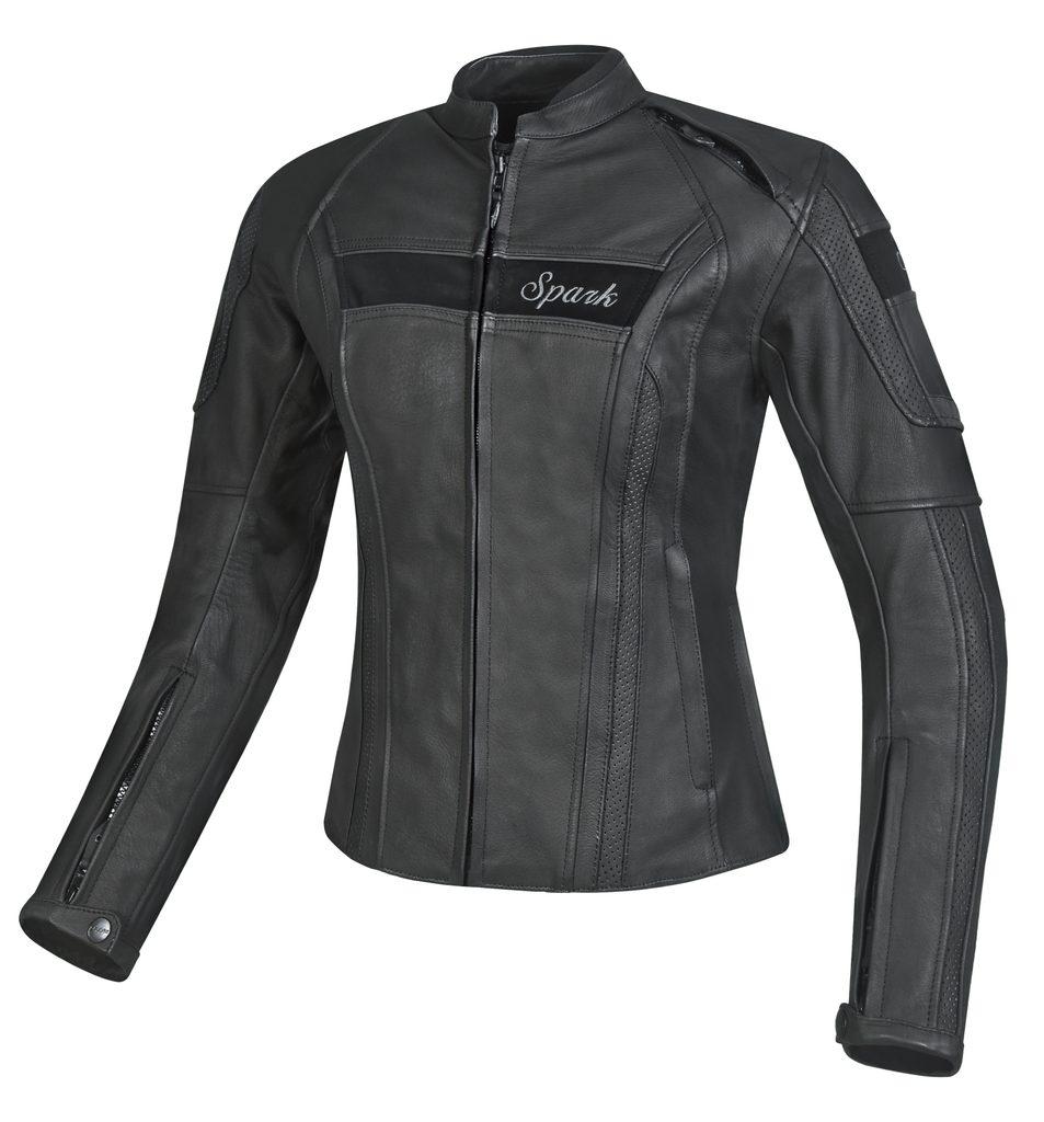 Dámska kožená moto bunda Spark Virginia, Black