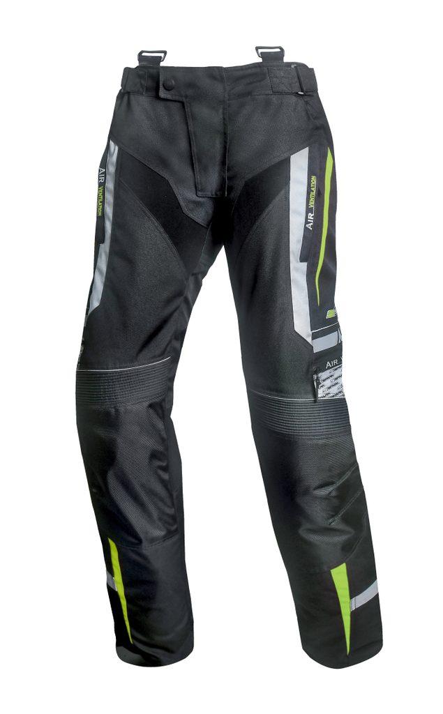 Pánske textilné moto nohavice Spark Mizzen, Fluo