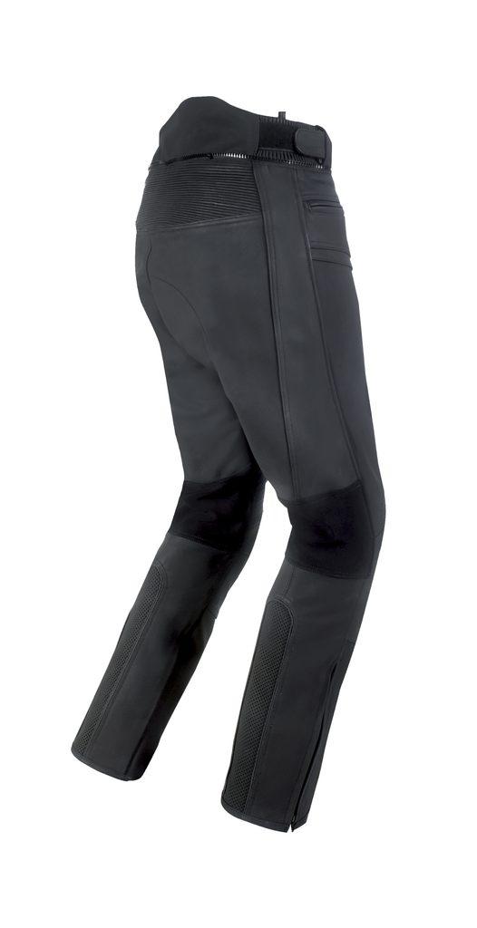 Pánske kožené moto nohavice Spark Motostar, čierne