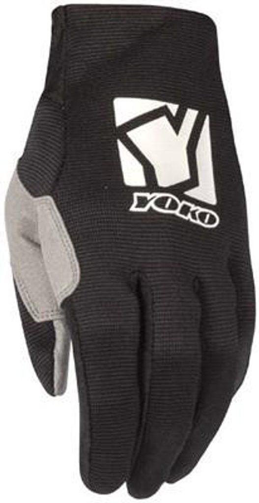 Detské motokrosové rukavice YOKO SCRAMBLE čierno / biele