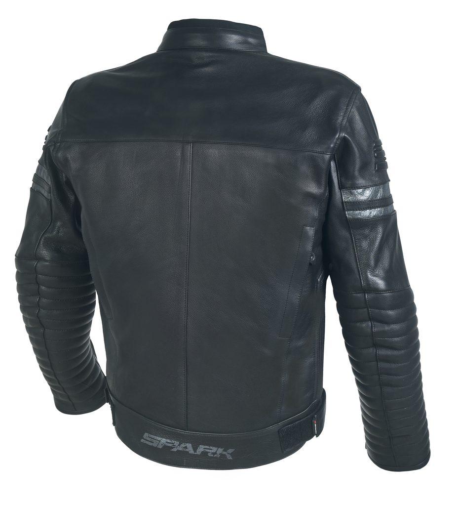 Pánska kožená moto bunda Spark Brono Evo Black