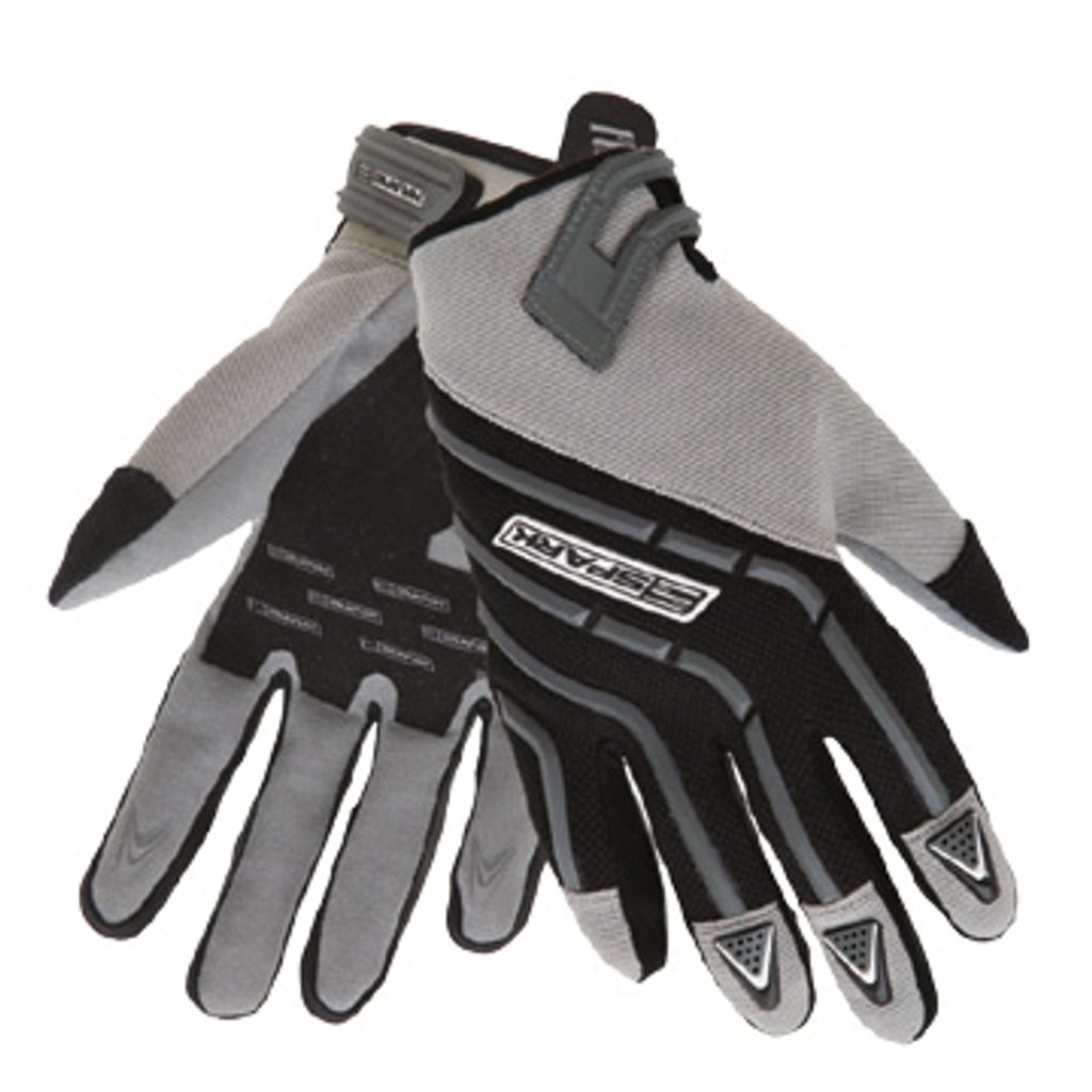 Pánske textilné moto rukavice Spark Cross, šedé