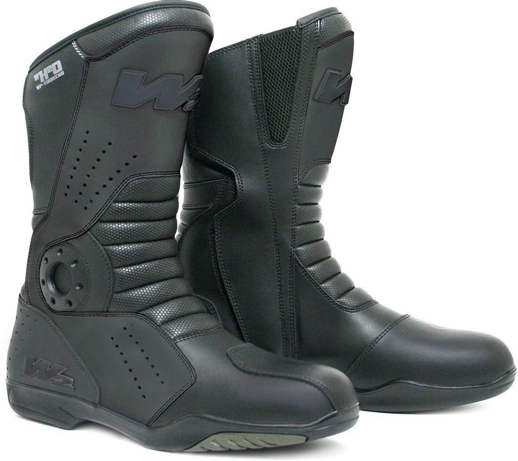 Cestovné pánske nepremokavé moto topánky W2 T-FP, čierne