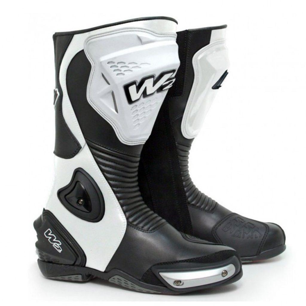 Športové pánske moto topánky W2 Adria, biele