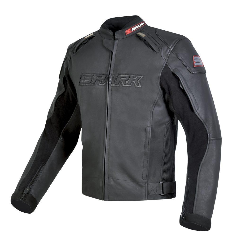 Pánska kožená moto bunda Spark Motostar Black
