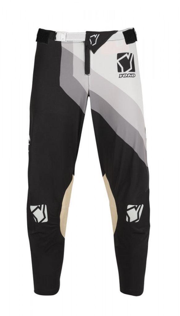 Motokrosové nohavice YOKO VIILEE čierno / biele
