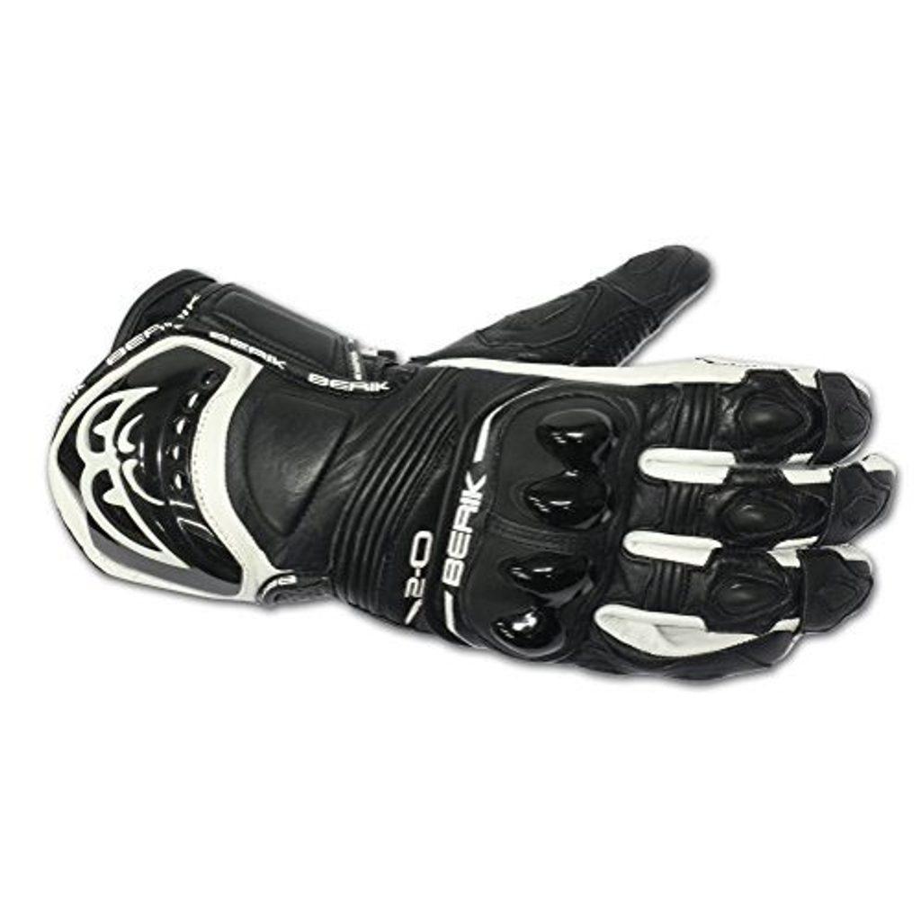 Kožené moto rukavice Berik G-10579-BK, čierne