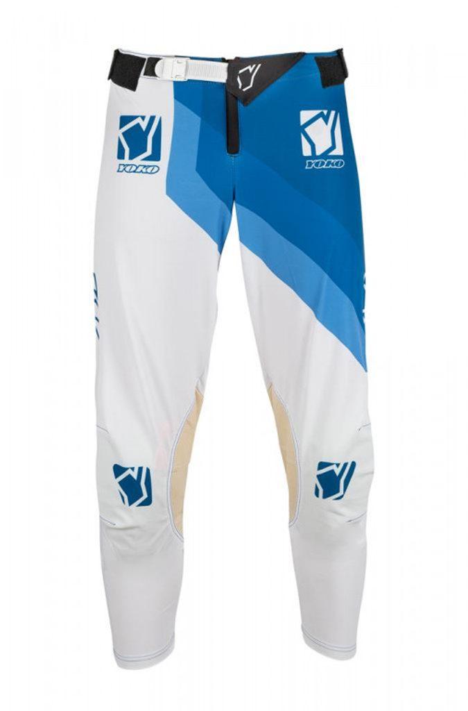 Motokrosové nohavice YOKO VIILEE bielo / modrý
