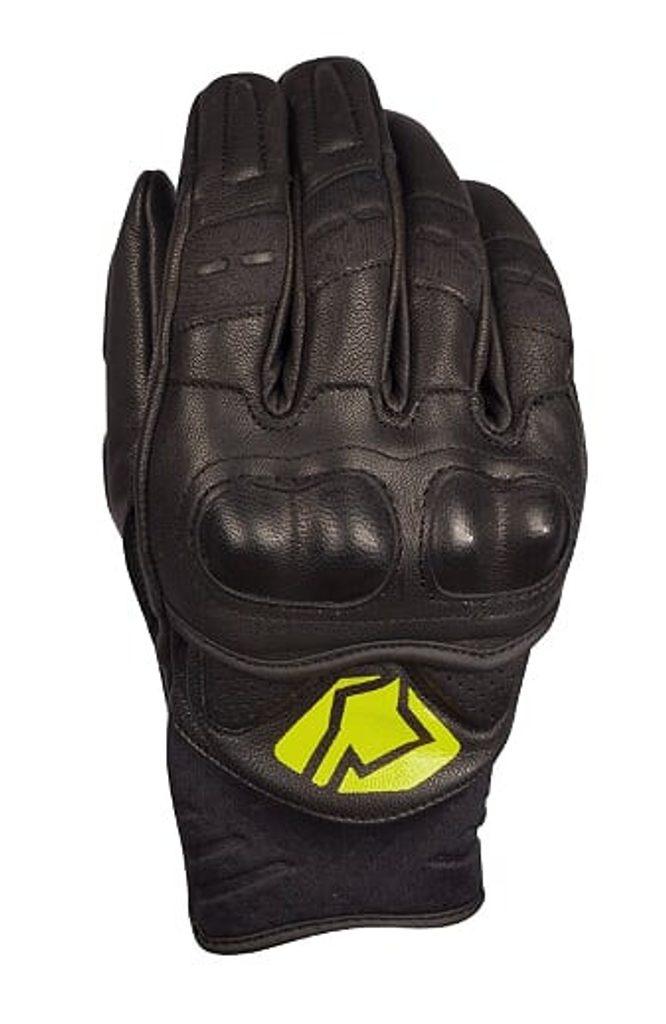 Krátke kožené rukavice YOKO BULSA čierno /žltý