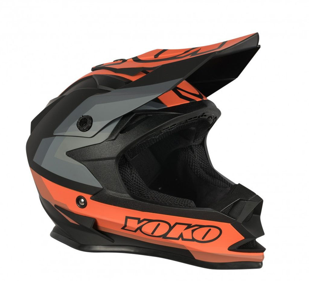 MX helmet YOKO SCRAMBLE matne čierno / oranžový