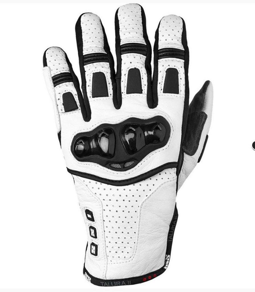 IXS Kožené rukavice Talura II - biele