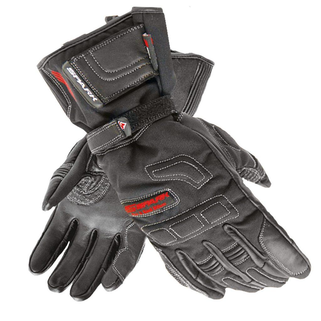 Pánske textilné moto rukavice Spark Manta, čierne