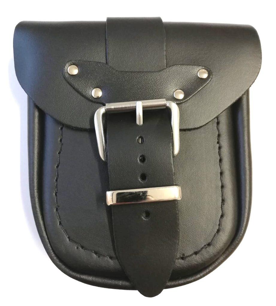 Kožená moto vrecko TechStar hladká, čierna