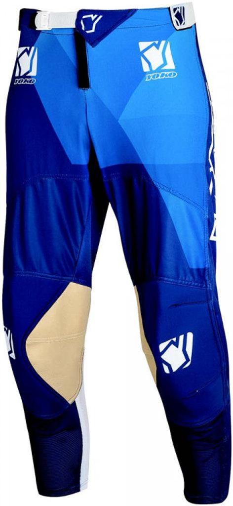 Motokrosové detské nohavice YOKO KISA modrý