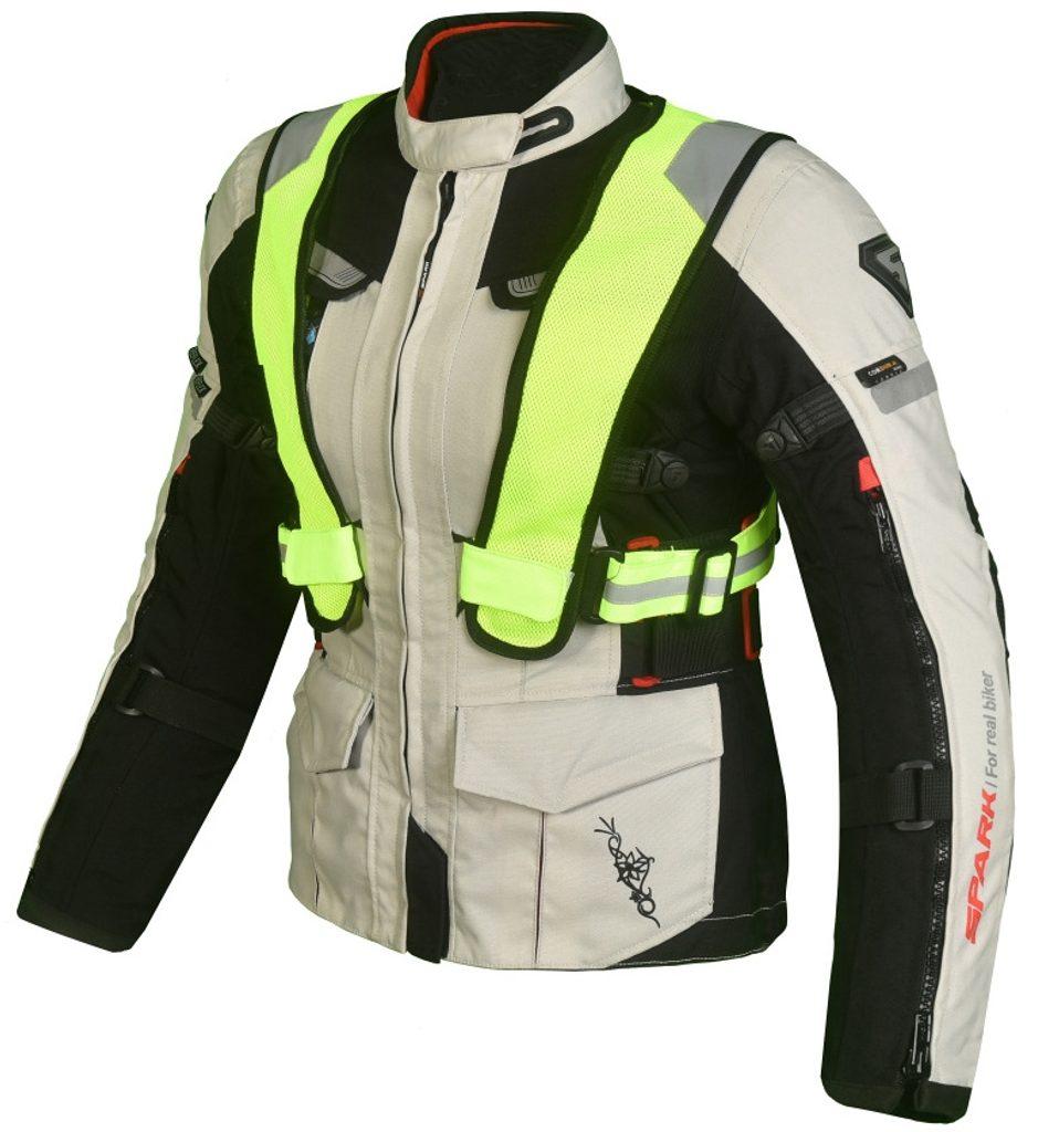 Dámska textilná moto bunda Spark Bora Black