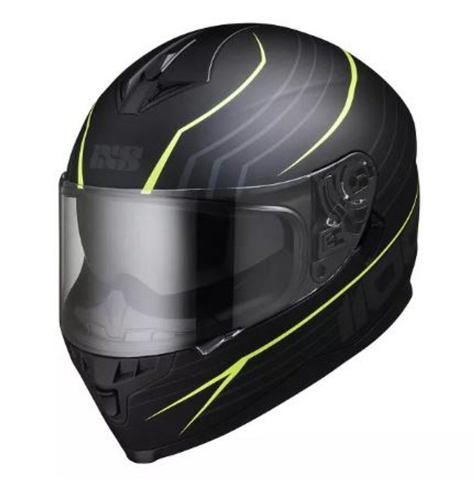 Moto prilba IXS  x14075-M35 HX 1100  matná čierna/žltá