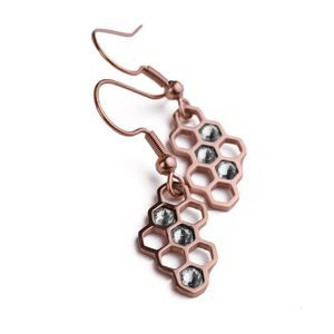 Bee Rose Gold Earrings