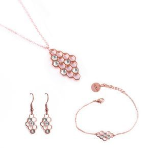 Trio of Bee Rose Gold
