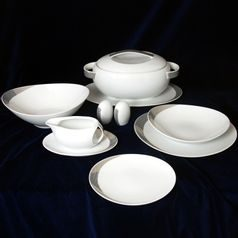 26805: Dining set for 6 persons, Thun 1794 Carlsbad porcelain, Loos