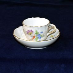 Cup 90 ml  plus  saucer 115 mm, Meissen porcelain
