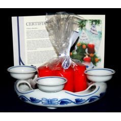 Advent candleholder 18 cm + certificate, Original Blue Onion Pattern