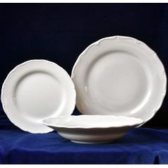 Verona white: Plate set with 25 cm dining plate, G. Benedikt 1882
