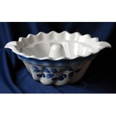 "Baking form for ""Bábovka"" cake 33 cm, Thun 1794 Carlsbad porcelain, BLUE CHERRY"