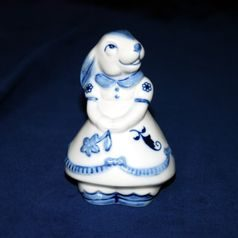 Bunny girl 10 cm, Original Blue Onion Pattern