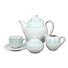 Coffee set for 6 pers., Thun 1794 Carlsbad porcelain, Opal 80519