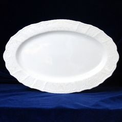 Frost no line: Oval dish 36 cm, Thun 1794 Carlsbad porcelain, Bernadotte