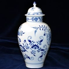 Vase with lid 25,5 cm, Blue Onion, Meissen porcelain