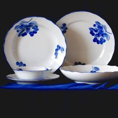 Dining set for 6 pers., Cesky porcelan a.s., Blue cherry