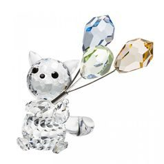 Cat with balloons 68 x 28 mm, Crystal Gifts and Decoration PRECIOSA