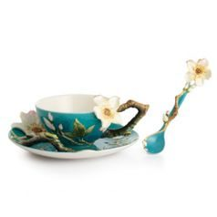 Cup, saucer and spoon set Almond, porcelain, Van Gogh, porcelain FRANZ