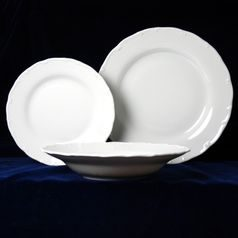Plate set for 6 pers., Ophelie white, Thun 1794