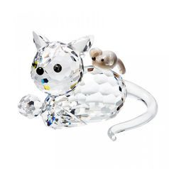 Cat and Mouse 35 x 53 mm, Crystal Gifts and Decoration PRECIOSA