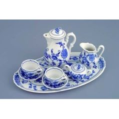 Coffee set mini 8 pieces, Original Blue Onion Pattern