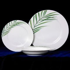 Plate set for 6 persons, Thun 1794 Carlsbad porcelain, SYLVIE 80325