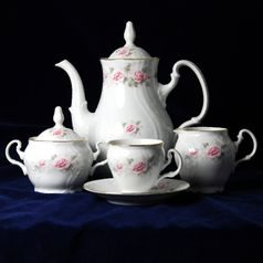 Coffee set for 6 persons, Thun 1794 Carlsbad porcelain, Bernadotte 5396011