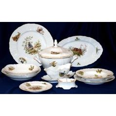 Dining set for 6 persons, Thun 1794 Carlsbad porcelain, BERNADOTTE Hunting
