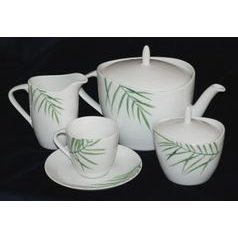 Tea set for 6 persons, Thun 1794 Carlsbad porcelain, SYLVIE 80325
