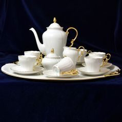 Coffee set for 6 pers. with tray, Ela gold, Leander 1907