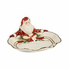 Fitz and Floyd: Bowl Santa presents 33 x 31,5 cm, Goebel porcelain