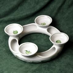 Advent candleholder 18 cm + certificate, Original Green Onion Pattern